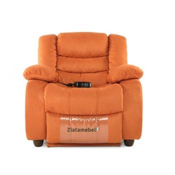 Кресло Честер оранжевый в ткани реклайнер