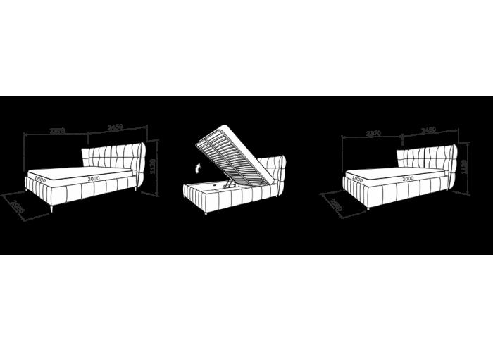 Кровать Флоренция (Подъемный механизм)  11