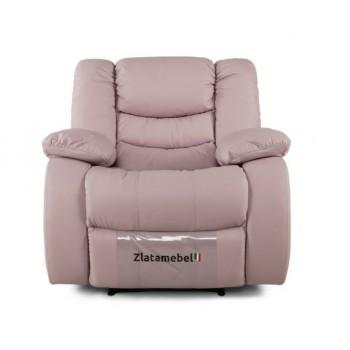 Кресло Честер розовое в коже
