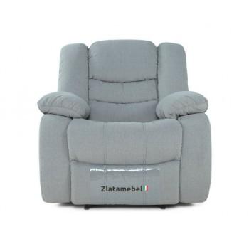 Кресло Честер в ткани серый