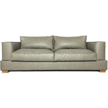 Прямой диван Маттео, кожа