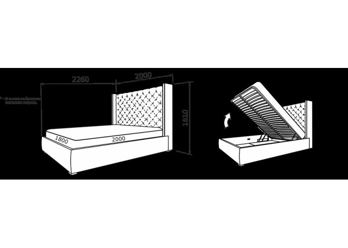 Кровать Рафаэлла (кожа)  9