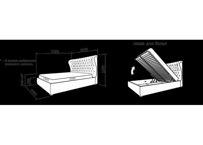 Кровать Анабель (кожа)  11