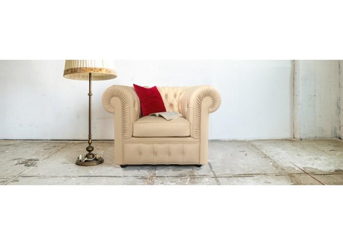 Кресло Честерфилд, желтый  12