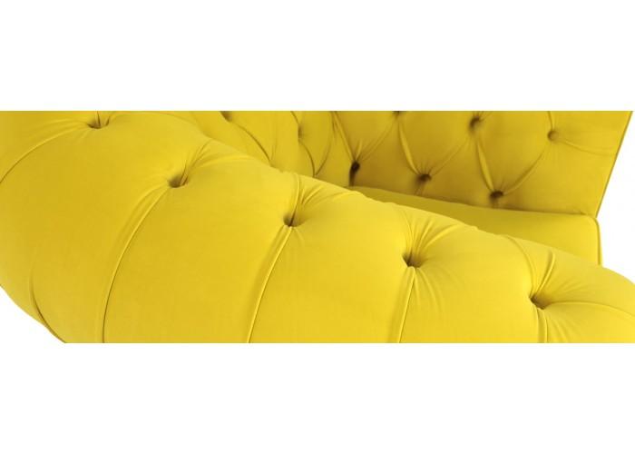 Кресло Честерфилд, желтый  9