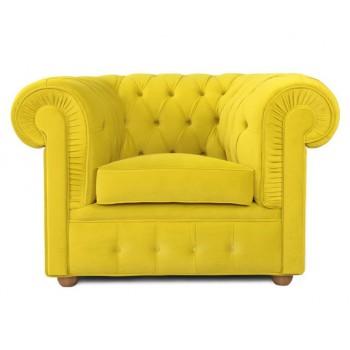 Кресло Честерфилд, желтый