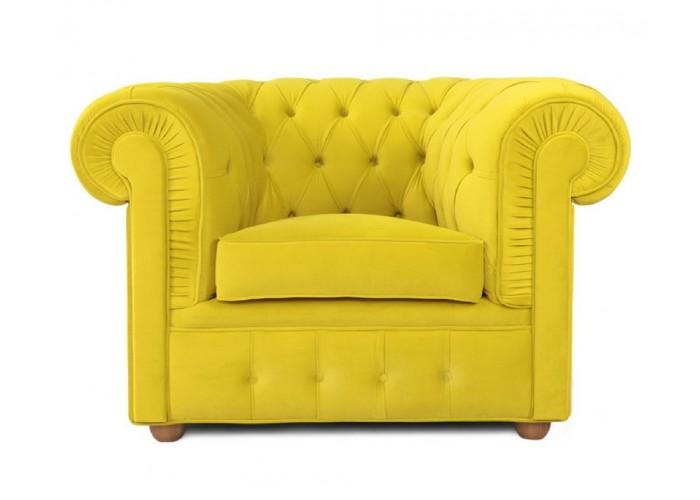 Кресло Честерфилд, желтый  1