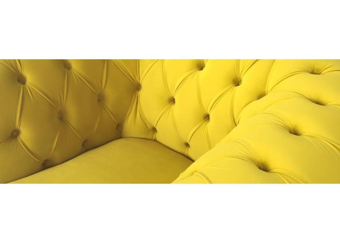 Кресло Честерфилд, желтый  8