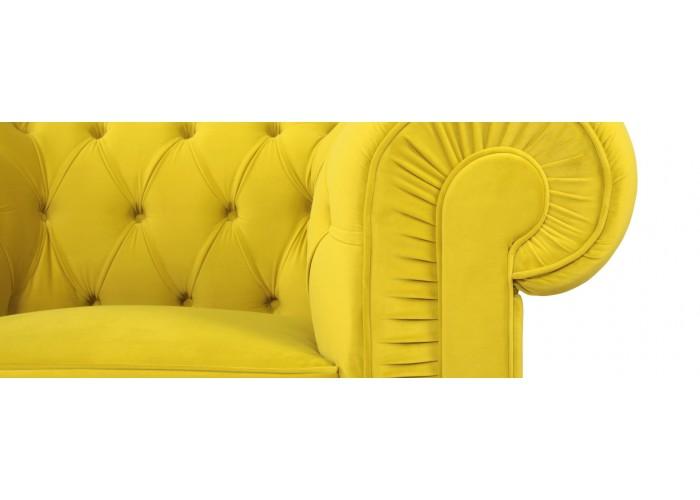 Кресло Честерфилд, желтый  2