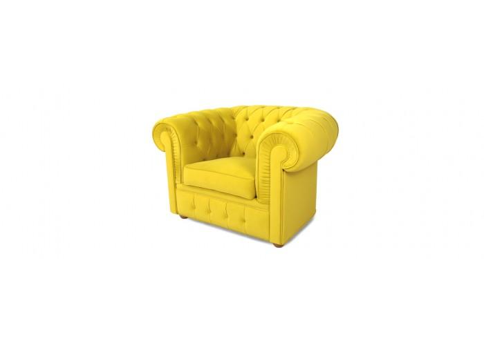 Кресло Честерфилд, желтый  5