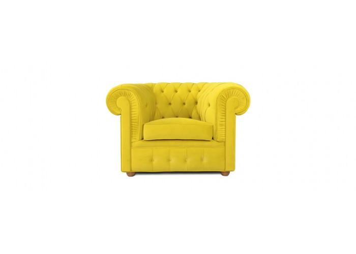 Кресло Честерфилд, желтый  4