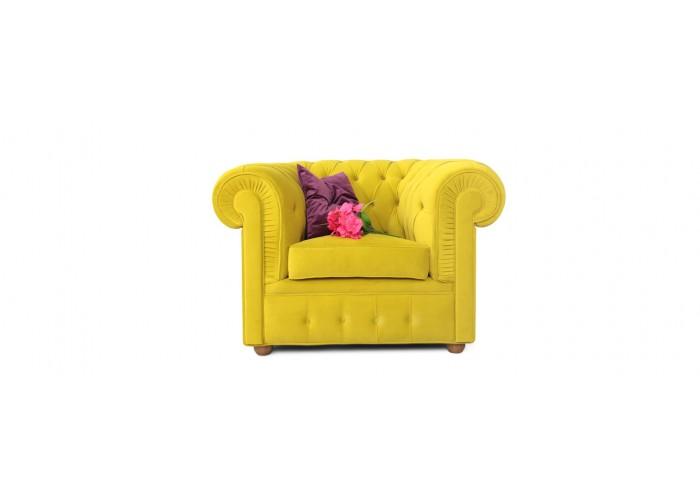 Кресло Честерфилд, желтый  3