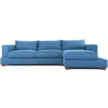 Угловой диван Маттео, ткань, синий