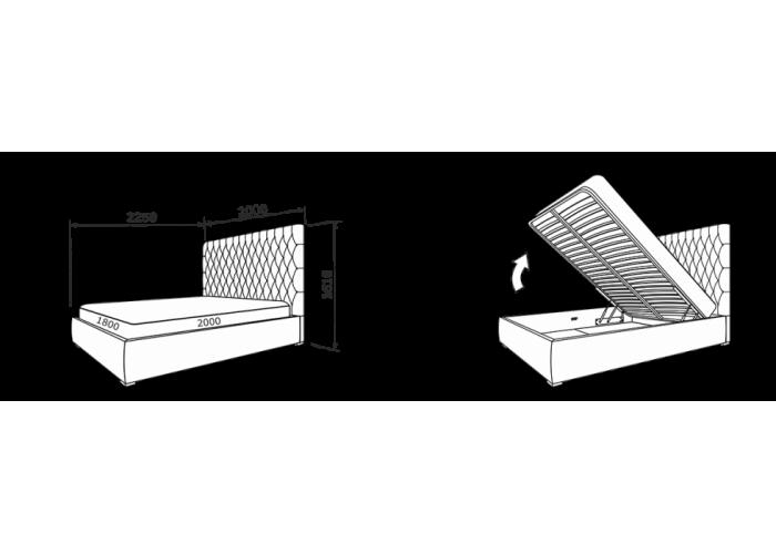 Кровать Дженнифер (ткань)  8