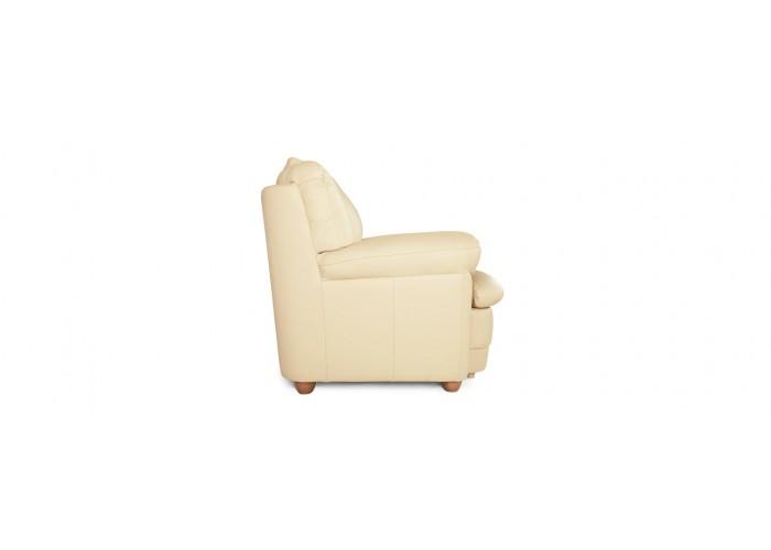 Кресло Бавария цвета айвори в коже с реклайнером  8