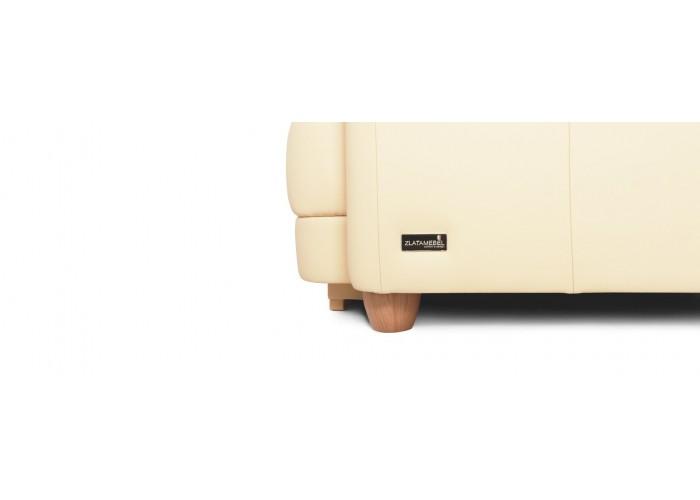 Кресло Бавария цвета айвори в коже с реклайнером  9