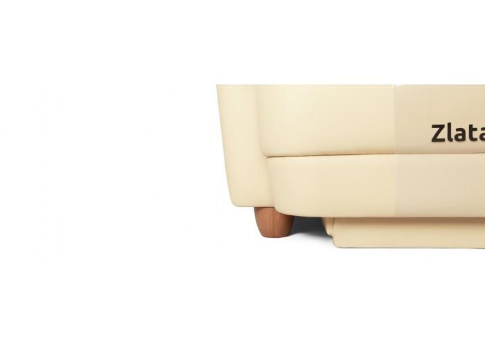 Кресло Бавария цвета айвори в коже с реклайнером  10