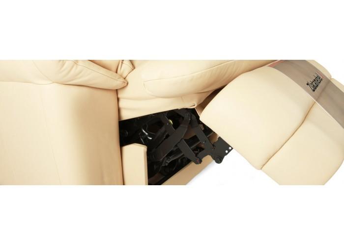 Кресло Бавария цвета айвори в коже с реклайнером  7