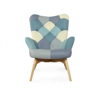 Кресло Бруно пэчворк (кожа)