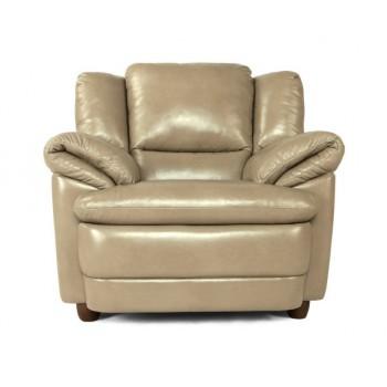 Кресло Бавария коричневое в коже с реклайнером