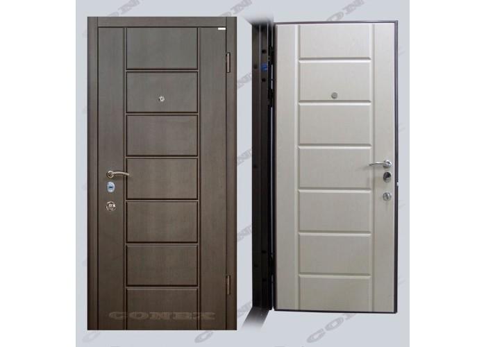 Двери входные – Conex – Модель 38 Венге, внутри Дуб молочный  1