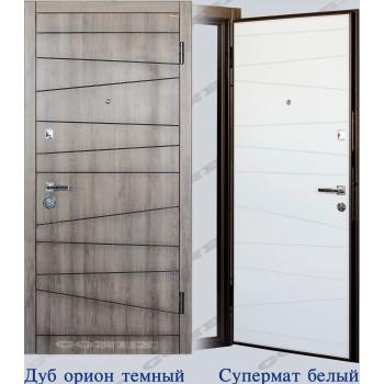 Двери входные – Conex – Модель 74 Дуб орион, внутри Супермат белый