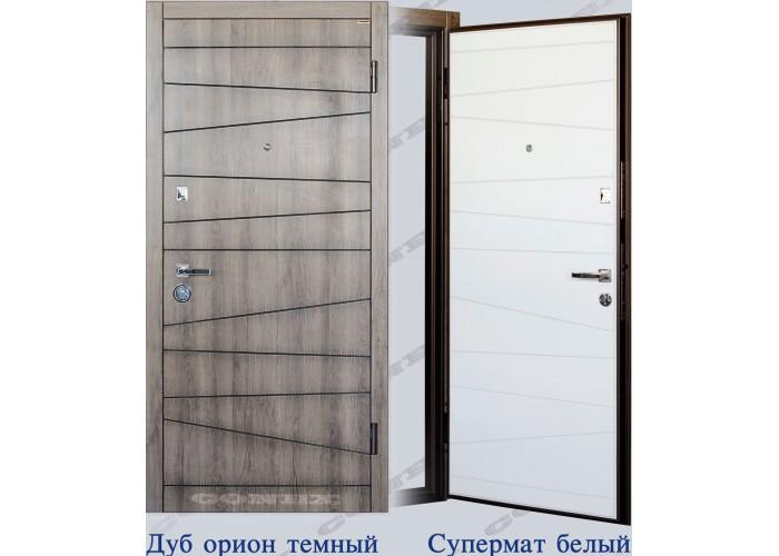 Двери входные – Conex – Модель 74 Дуб орион, внутри Супермат белый  1