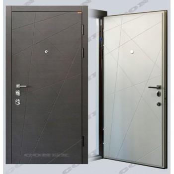 Двери входные – Conex – Модель 87 Венге, внутри Супермат белый