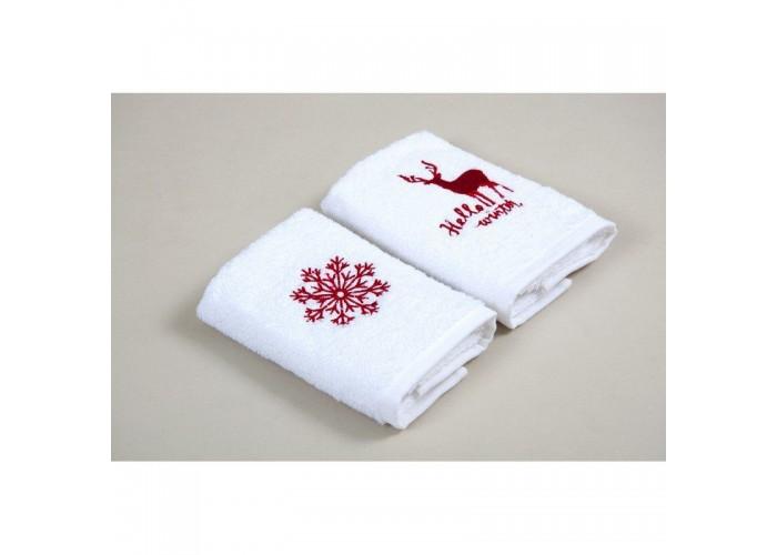 Новогодний набор кухонных полотенец Barine - Winter Red красный 30*50  2