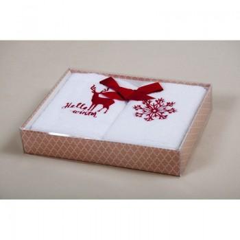 Новогодний набор кухонных полотенец Barine - Winter Red красный 30*50