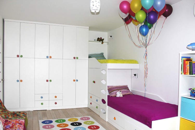 Фото дизайна: Детская для двух деток – Квартира в скандинавском стиле площадью 113 м – 1546