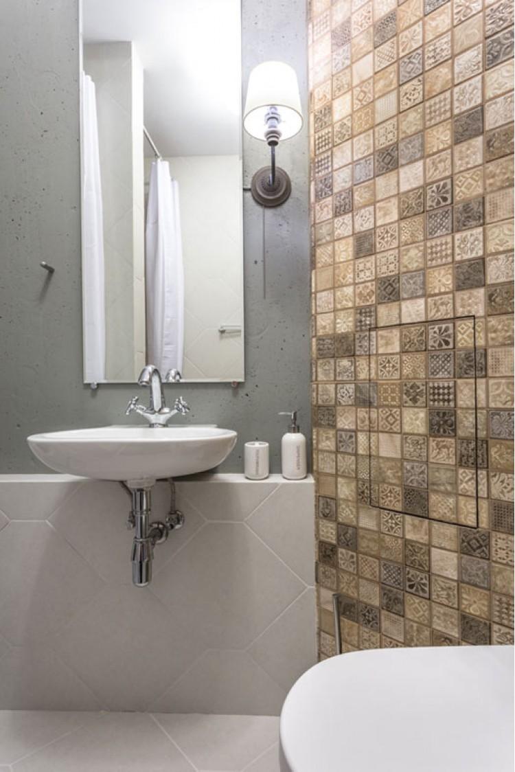 Санузел — Дизайн 2-комнатной квартиры Soft Scandinavian Loft, 40 м.кв — дизайнер Ира Сазонова