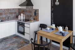 Кухня  — Дизайн 1-комнатной квартиры Studio Open Space, ЖК Комфорт Таун, 40 м.кв — дизайнер Сазонова Ира