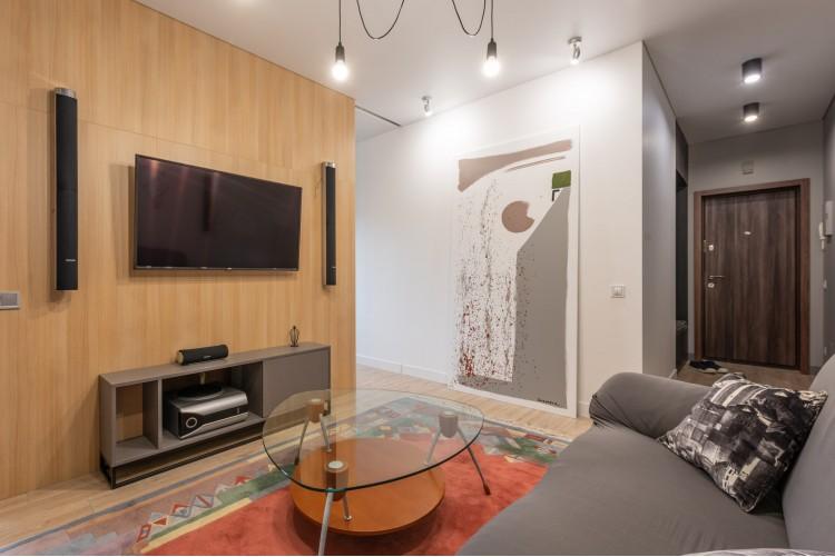 Гостиная  в дизайн-проекте смарт- квартиры ЖК PARKLAND, 43м.кв.— дизайнер Ирина Сазонова