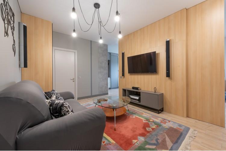 Гостиная в дизайн-проекте смарт- квартиры ЖК PARKLAND, 43 м.кв.— дизайнер Ирина Сазонова