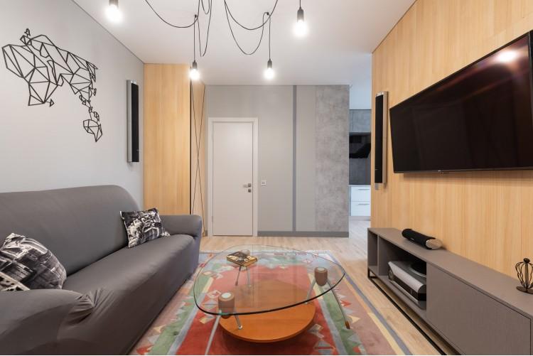 Гостиная в дизайн-проекте смарт- квартиры ЖК PARKLAND, 43 м.кв. — дизайнер Ирина Сазонова