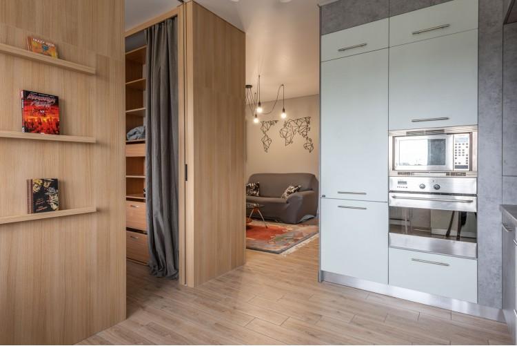 Кухня  в дизайн-проекте  смарт- квартиры ЖК PARKLAND, 43 м.кв.— дизайнер Ирина Сазонова