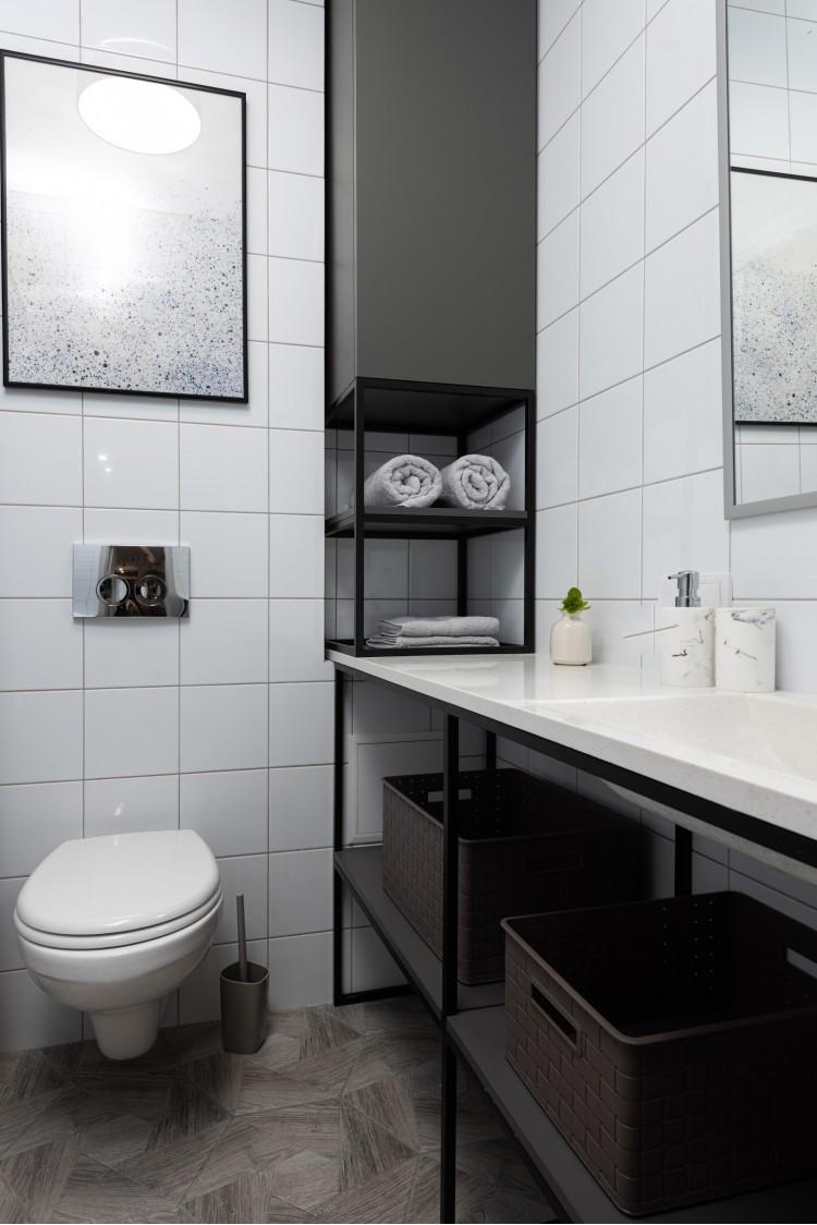 Санузел в дизайн-проекте смарт- квартиры ЖК PARKLAND, 43 м.кв.,— дизайнер Ирина Сазонова