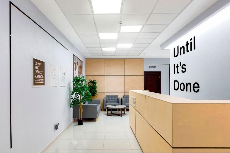 Рецепция в дизайн-проект и комплектация офиса мебелью ИКЕА — дизайнер  Сазонова Ира