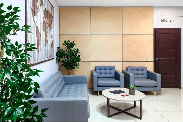 Мягкая зона офиса в дизайн-проект и комплектация офиса мебелью ИКЕА — дизайнер  Сазонова Ира