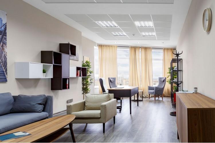 Кабинет в дизайн-проект и комплектация офиса мебелью ИКЕА — дизайнер  Сазонова Ира