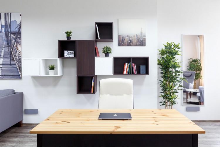 Письменный стол в дизайн-проект и комплектация офиса мебелью ИКЕА — дизайнер  Сазонова Ира