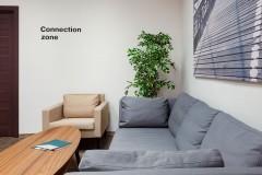 Connection zone в дизайн-проекте и комплектацию офиса мебелью ИКЕА — дизайнер  Сазонова Ира