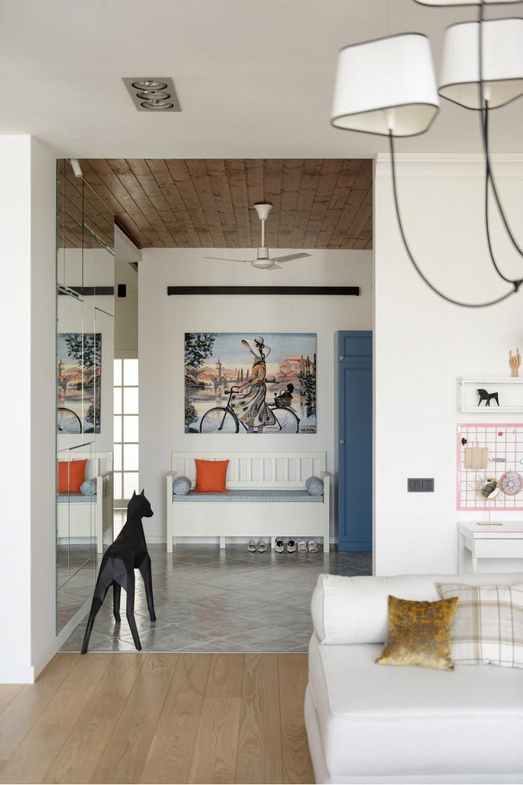 """Прихожая — Дизайн-проект 2-комнатной квартиры """"Forever young"""" White Cozy Home в ЖК River Stone, 85м.кв — дизайнер Сазонова Ира"""