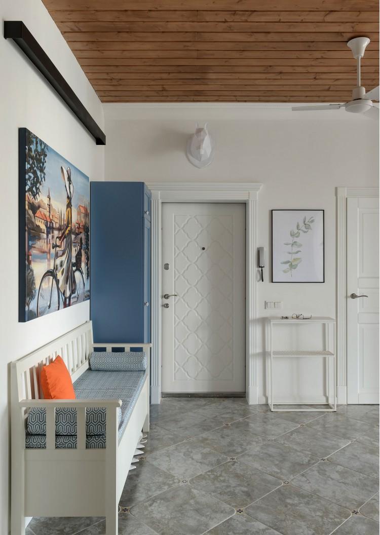 """Входная дверь — Дизайн-проект 2-комнатной квартиры """"Forever young"""" White Cozy Home в ЖК River Stone, 85м.кв — дизайнер Сазонова Ира"""