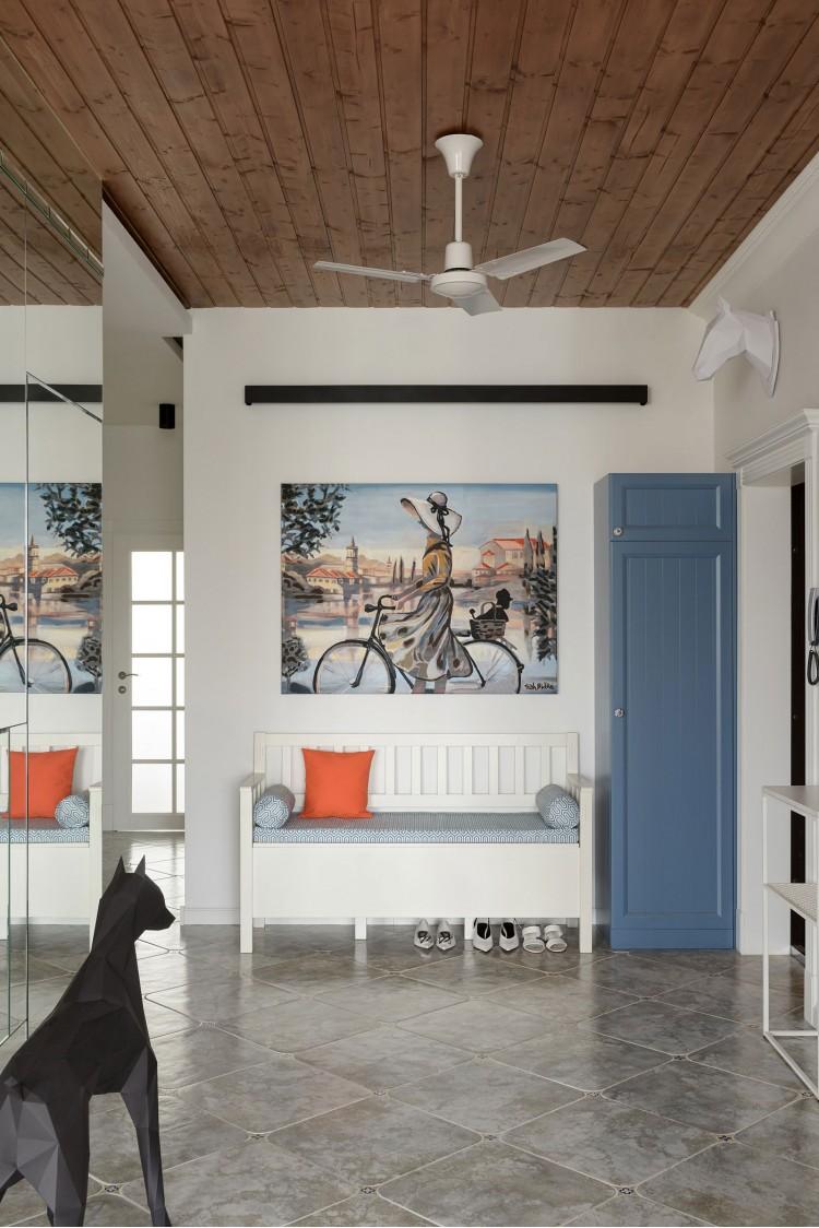 """Арт прихожая — Дизайн-проект 2-комнатной квартиры """"Forever young"""" White Cozy Home в ЖК River Stone, 85м.кв — дизайнер Сазонова Ира"""
