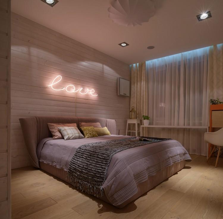 Вечернее освещение спальни – фото интерьера № 1790