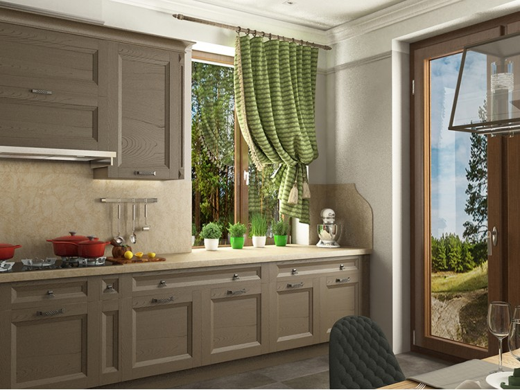 Фотография: Кухня – Дизайн-проект житлового будинку в селищі Лісники, 233 м.кв – 1918