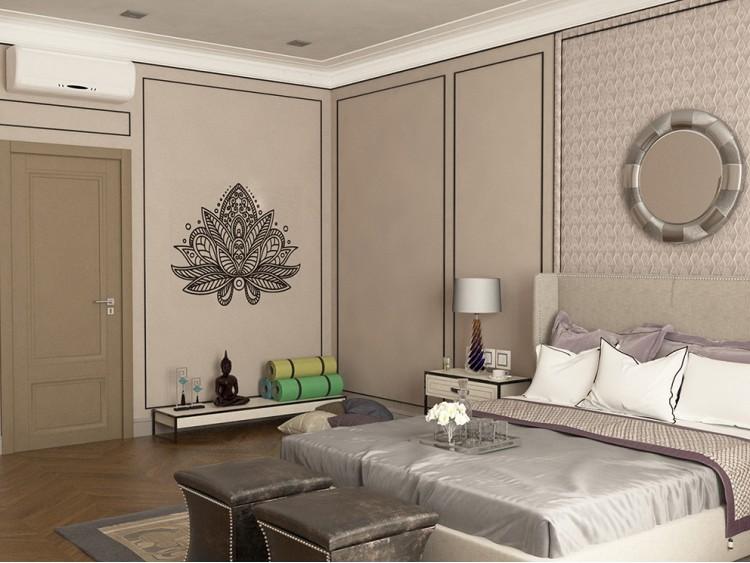 Фото: Cпальня – Дизайн-проект житлового будинку в селищі Лісники, 233 м.кв – 1976
