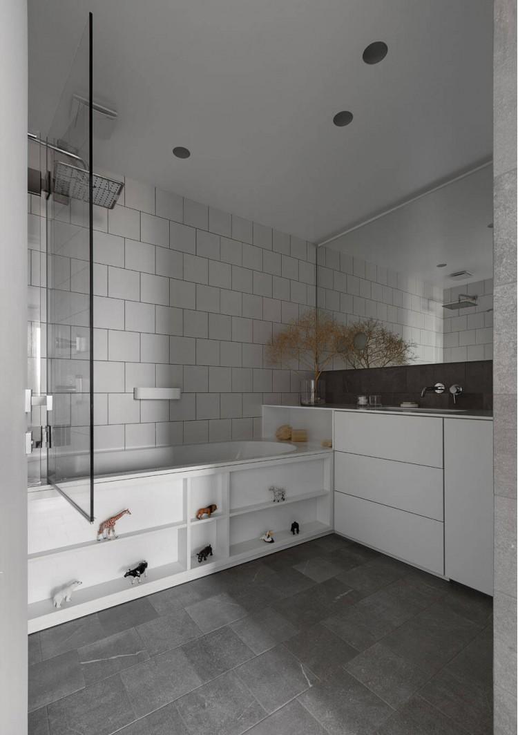 Ванная — Дизайн-проект 3-комнатной квартиры White Freedom, 93м.кв — студия дизайна Azovskiy + Pahomova